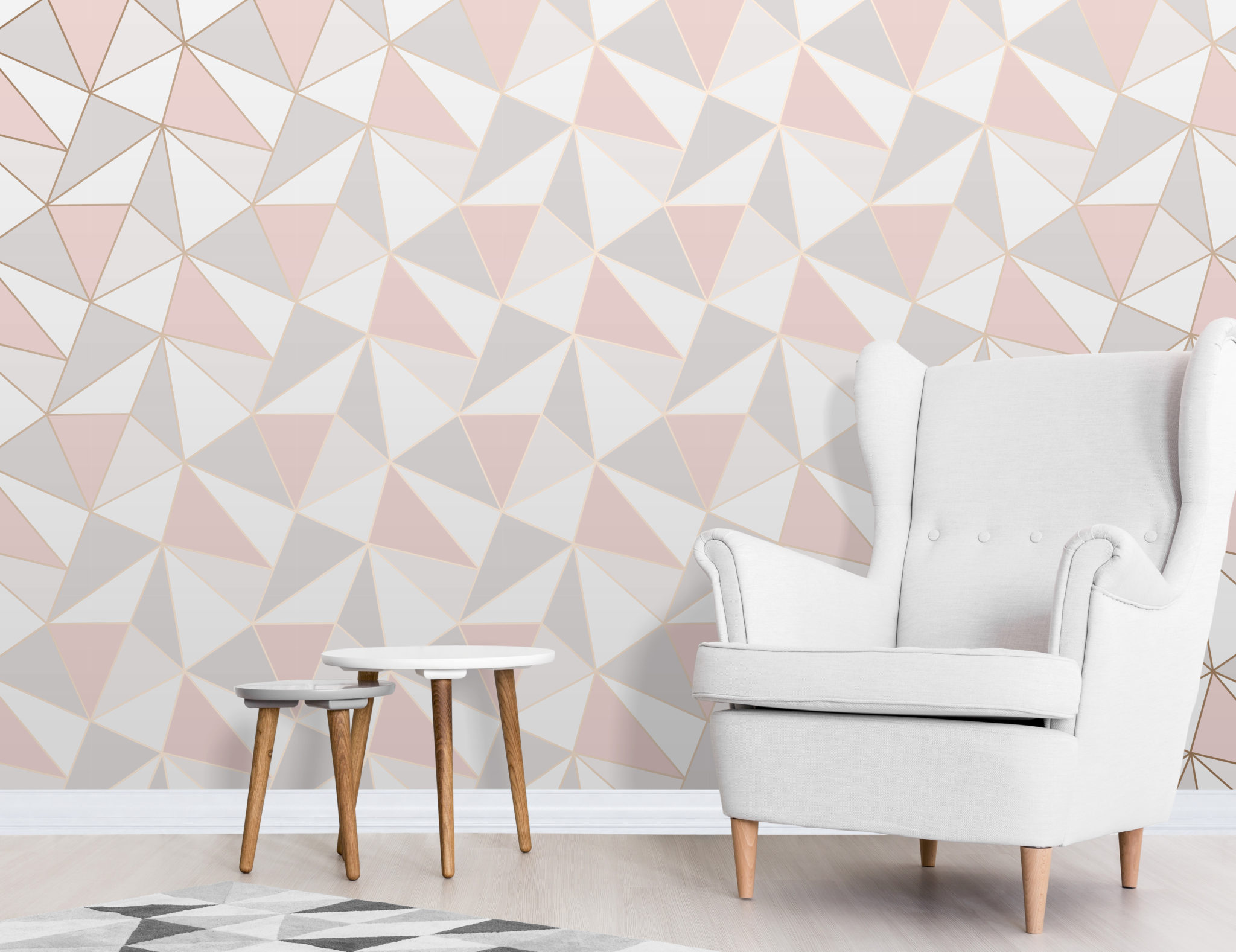 Fine Decor Apex Geometric Rose Gold Fd41993 Wallpaper Central