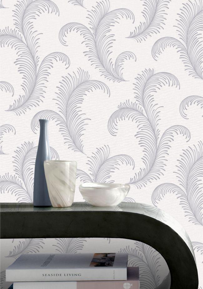 Rasch Eden Feather Rose Gold//Navy Glitter Textured Wallpaper  310313